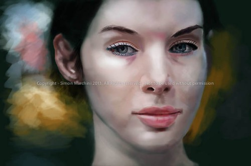 Young_woman_-_real_painting_-_