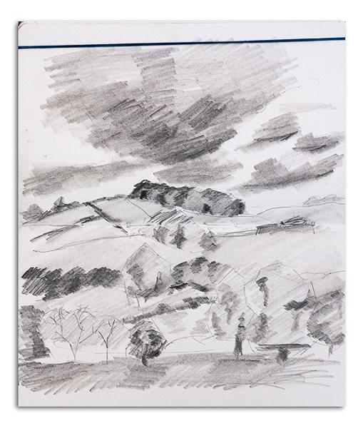 Derbyshire Landscape Sketch
