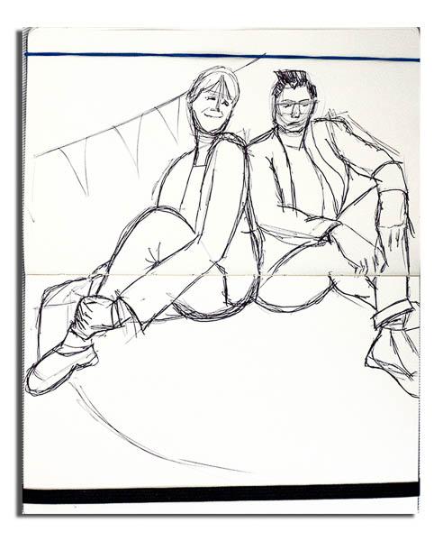 Mel and Sue - Sketch - Outline