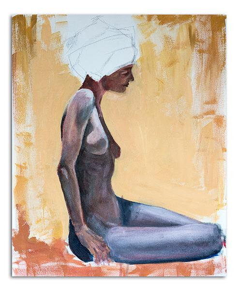 Nude with Blue Turbin 08