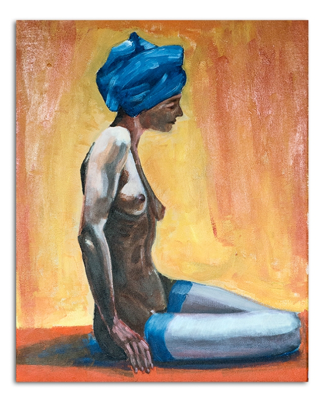 Nude with Blue Turban 13