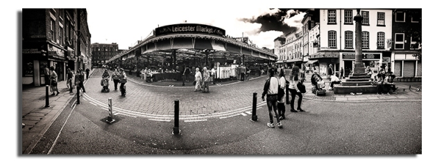 Leicester Market from Cheapside - Leicester