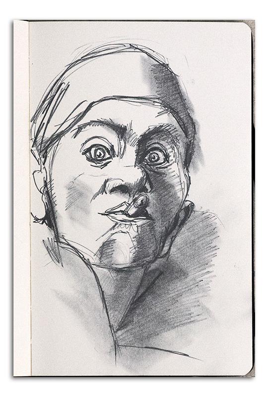 Man with Cigar - sketch