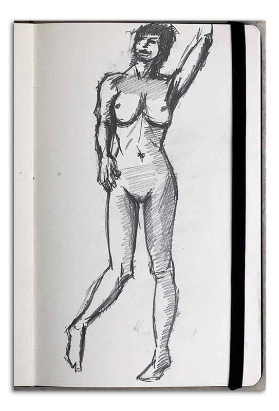Nude Sketch standing