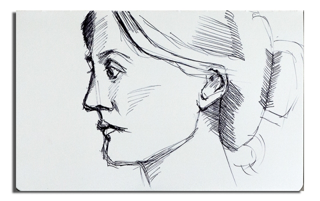 Woman Ink Sketch