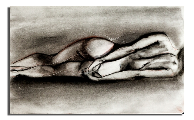 Nude Woman Lying on her side