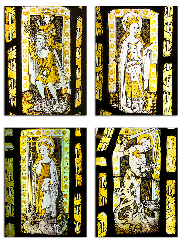 Wygeston House Stained Glass Windows - Newark Museum_