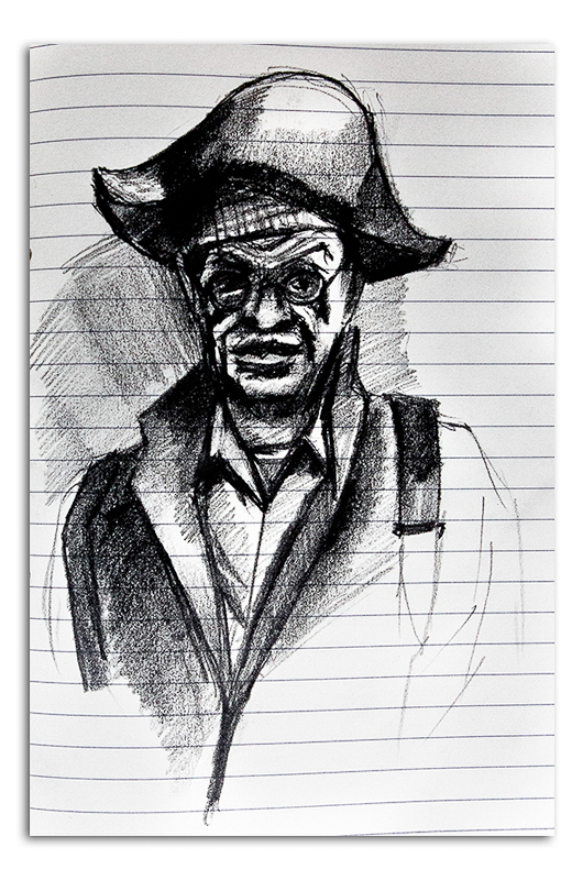Man with Pirate Hat