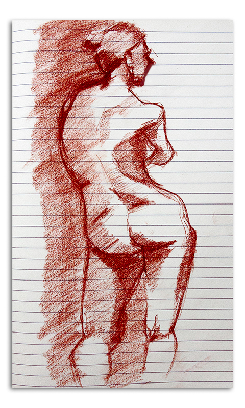 Nude Woman Sketch 003