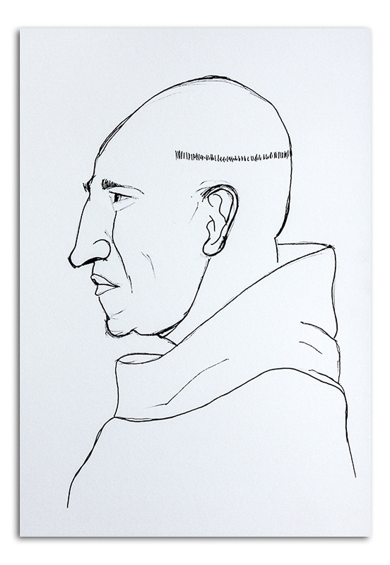Monk - after Eric Gill