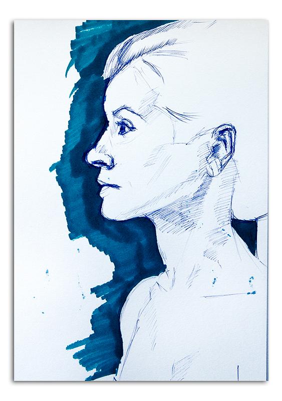 Woman in Profile 02