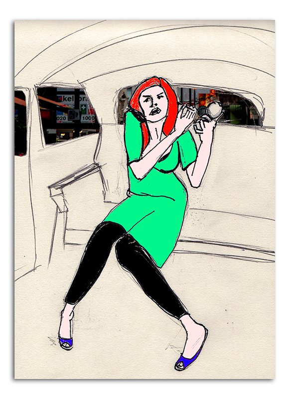 Inside a London Taxi