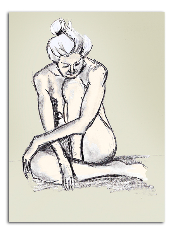 Nude Woman - sitting older