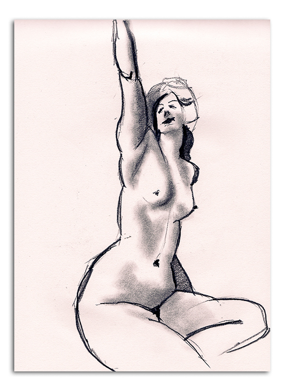Nude Woman with arm raised