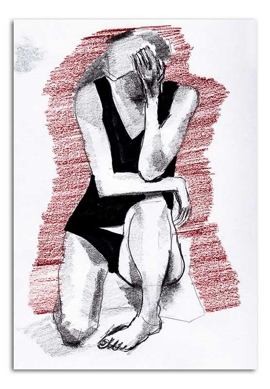 Woman Kneelling