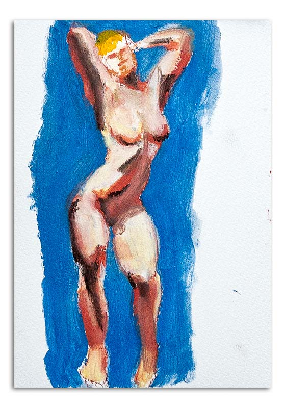 Nude Woman in oil pastels