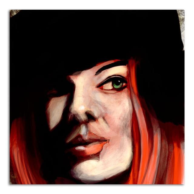 red-hair-black-hat